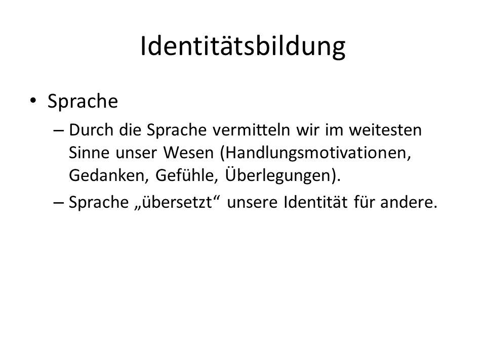 Identitätsbildung Sprache