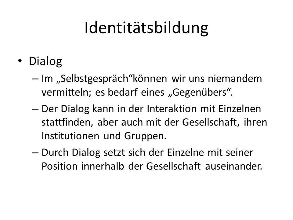 Identitätsbildung Dialog