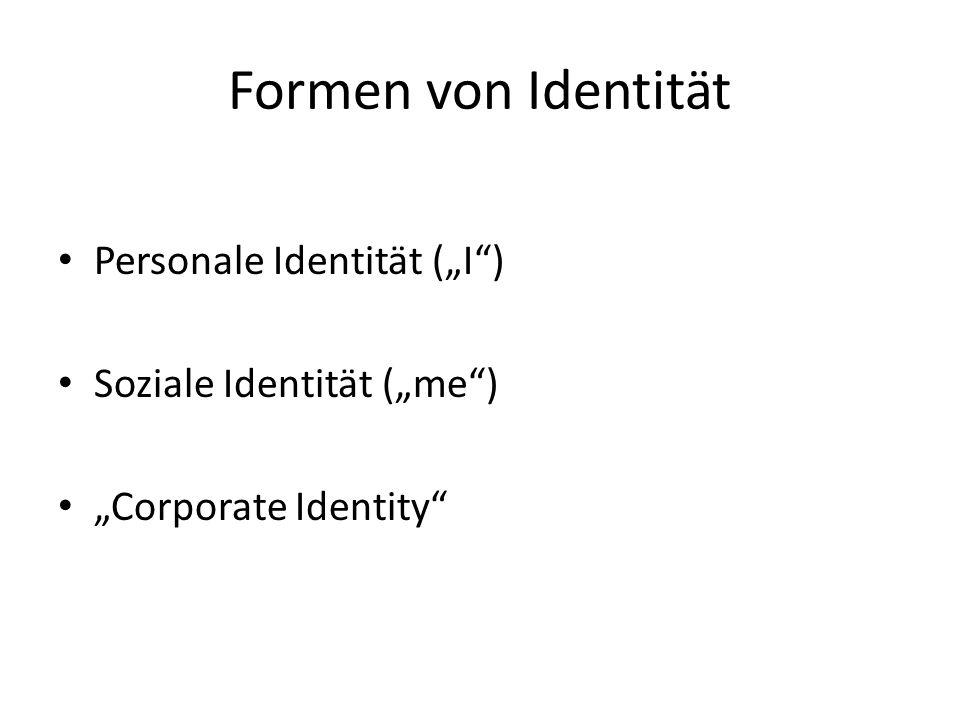"""Formen von Identität Personale Identität (""""I )"""