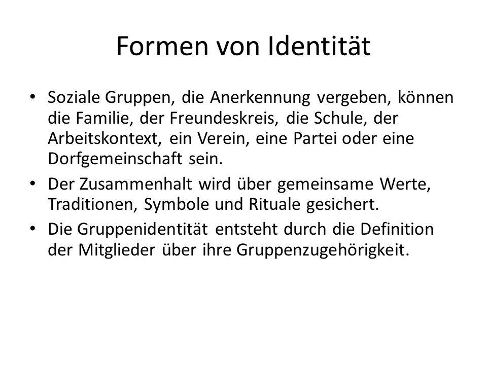 Formen von Identität