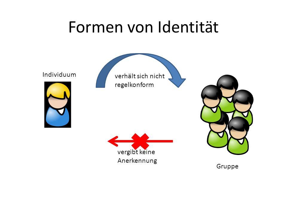 Formen von Identität Individuum verhält sich nicht regelkonform