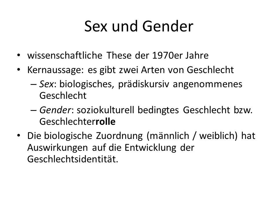 Sex und Gender wissenschaftliche These der 1970er Jahre