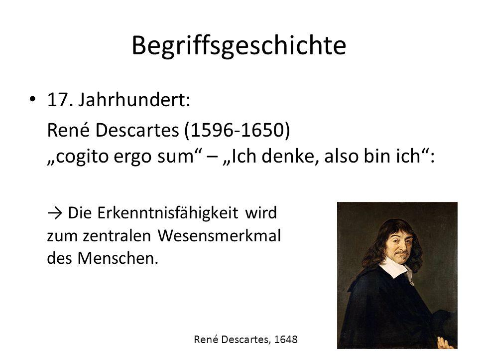 Begriffsgeschichte 17. Jahrhundert: