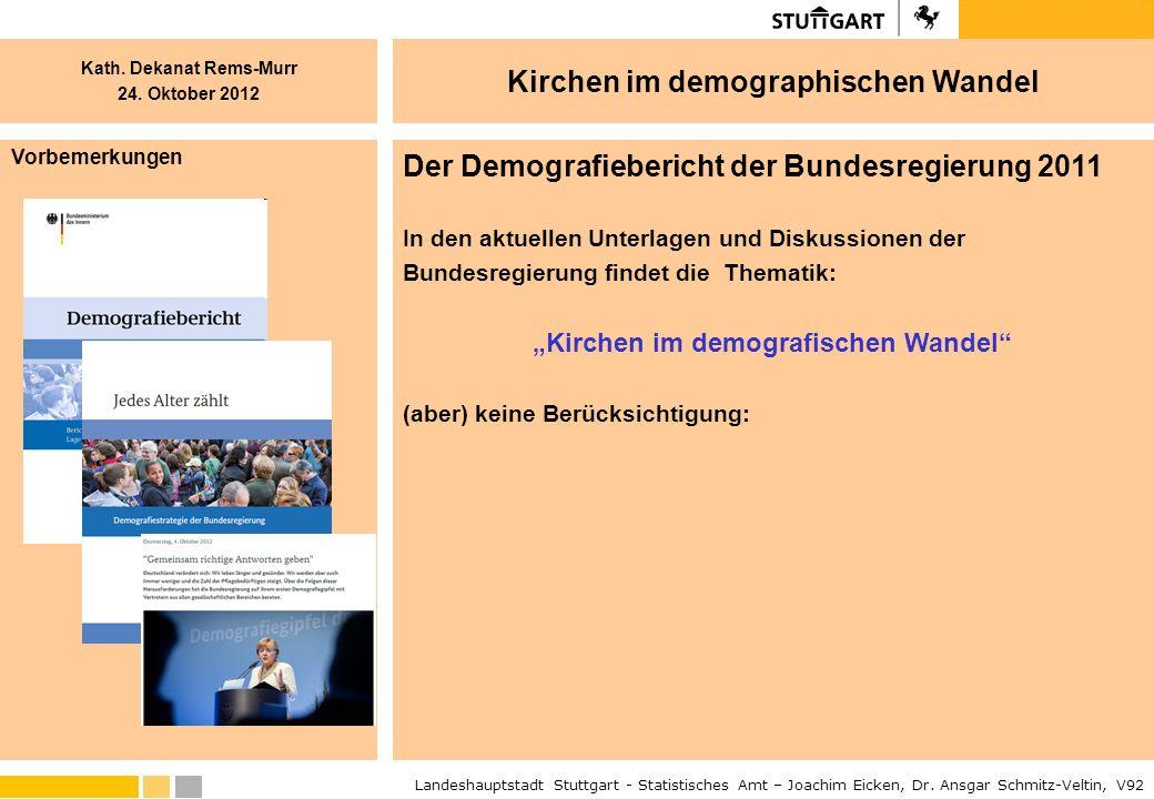 """""""Kirchen im demografischen Wandel"""