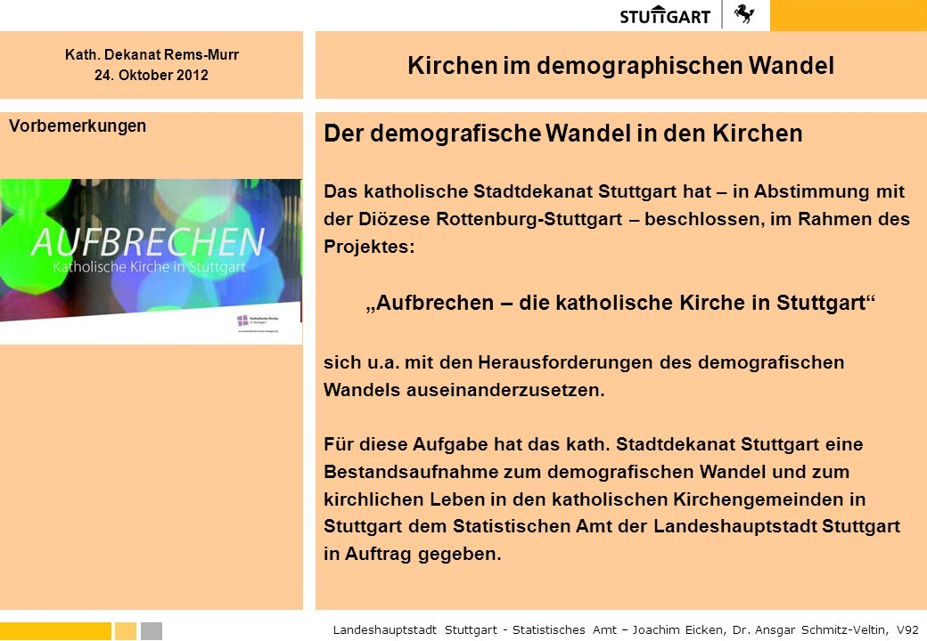 """""""Aufbrechen – die katholische Kirche in Stuttgart"""