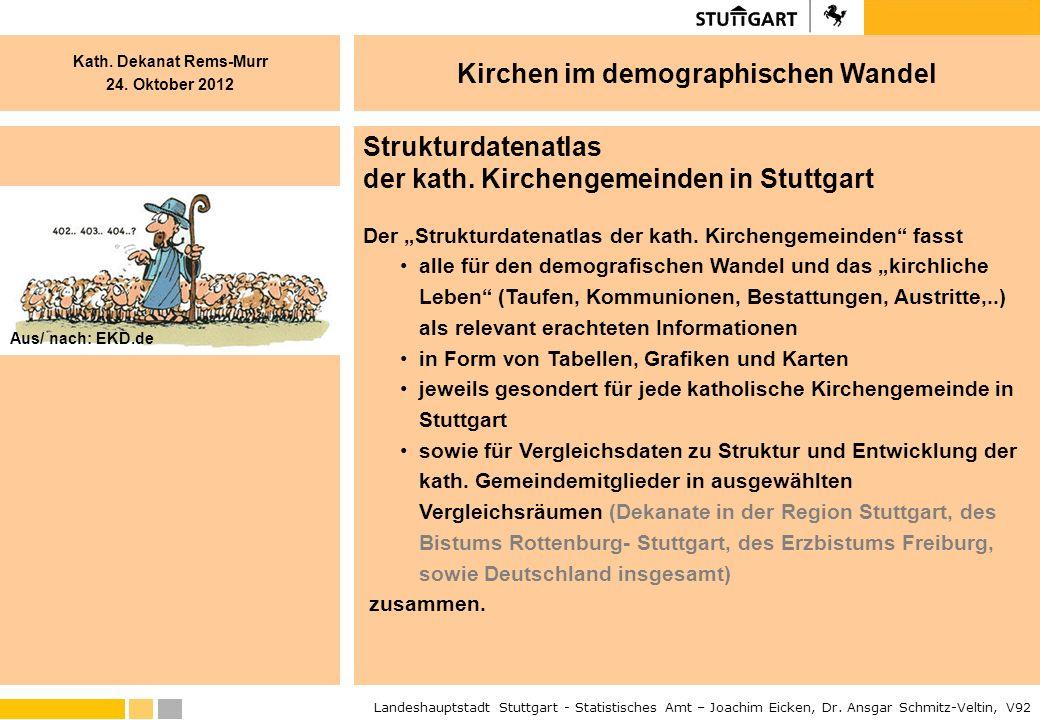 der kath. Kirchengemeinden in Stuttgart