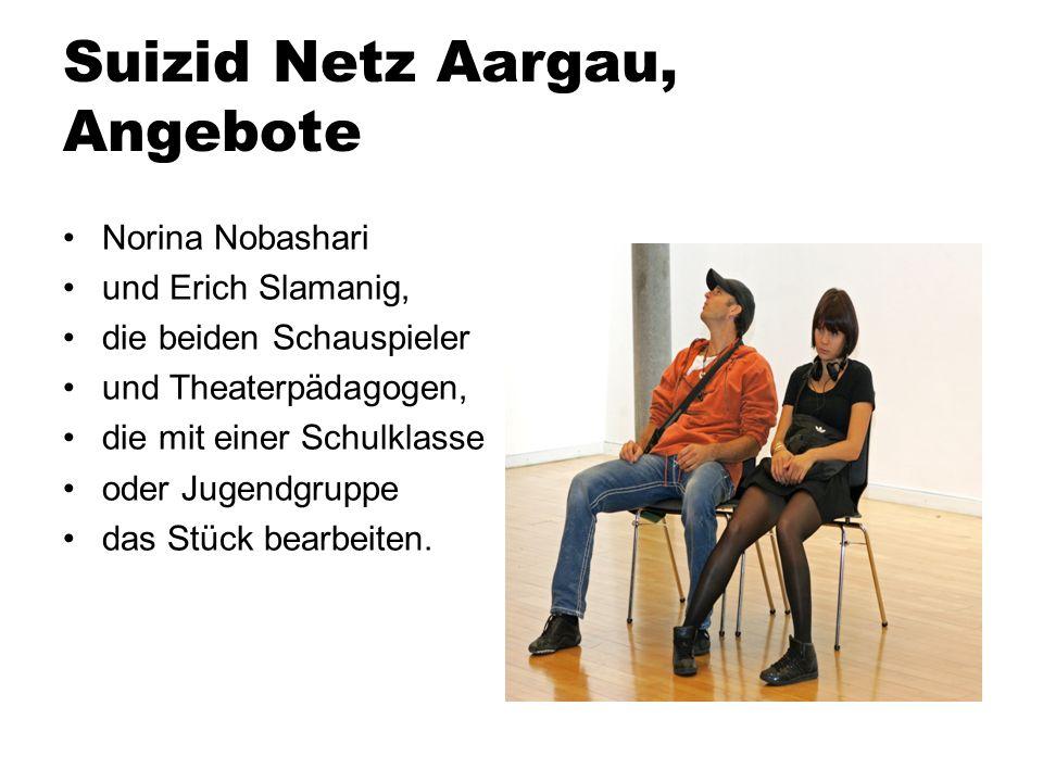 Suizid Netz Aargau, Angebote
