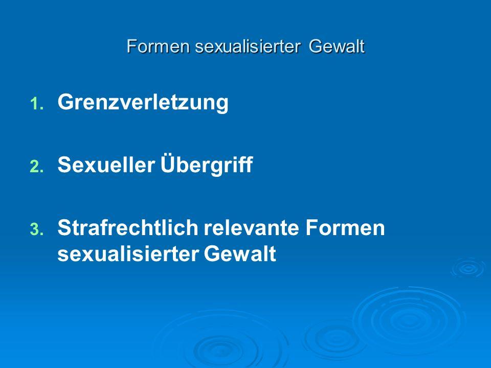 Formen sexualisierter Gewalt