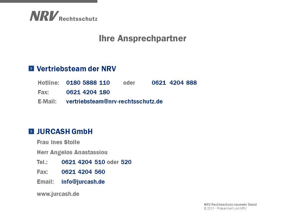 Ihre Ansprechpartner Vertriebsteam der NRV JURCASH GmbH