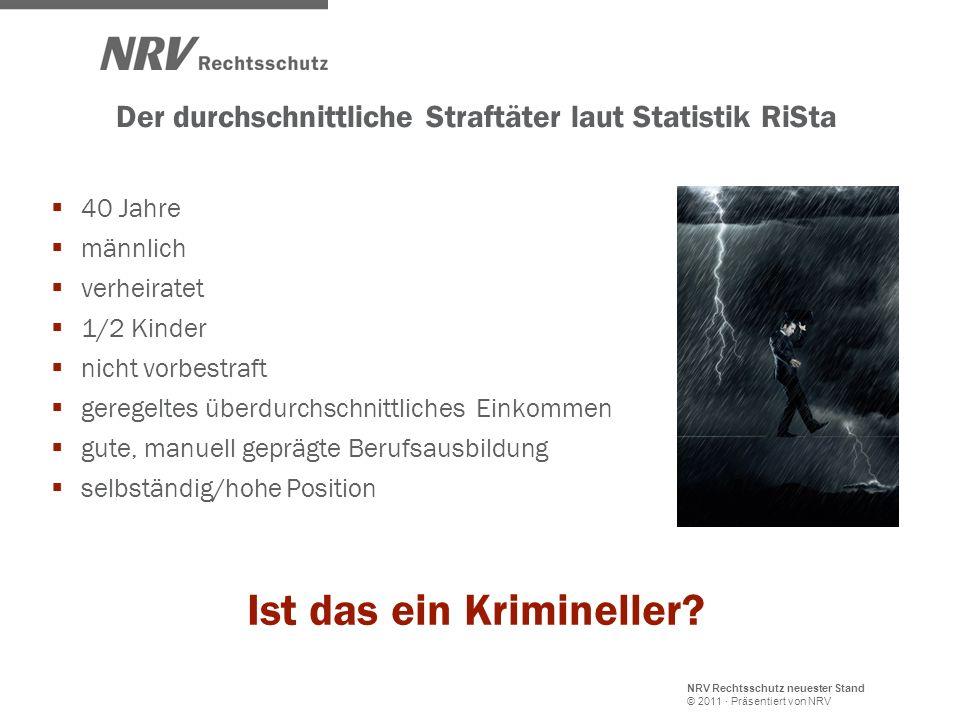Der durchschnittliche Straftäter laut Statistik RiSta