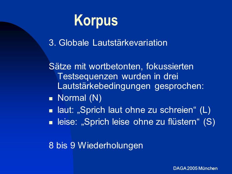 Korpus 3. Globale Lautstärkevariation