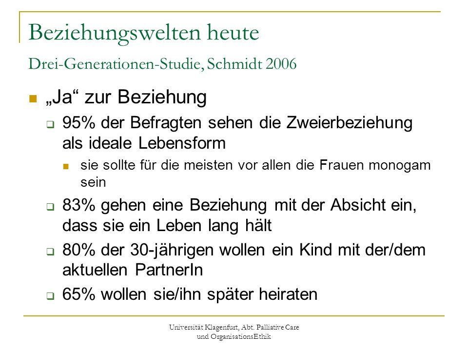 Beziehungswelten heute Drei-Generationen-Studie, Schmidt 2006