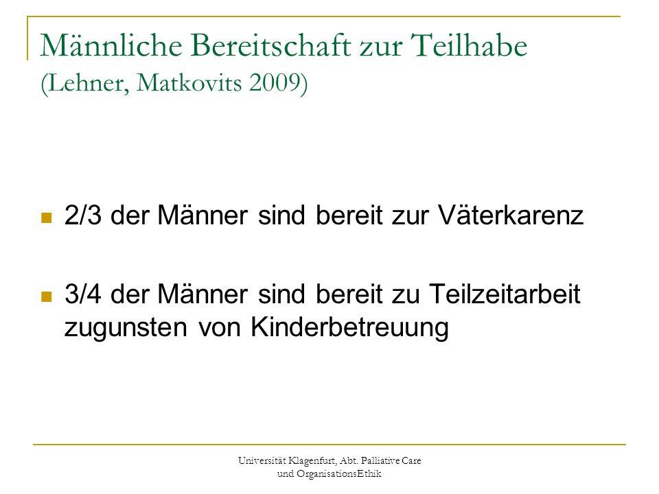 Männliche Bereitschaft zur Teilhabe (Lehner, Matkovits 2009)