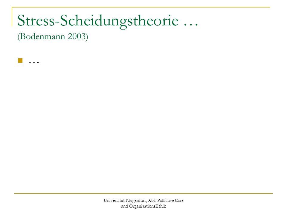 Stress-Scheidungstheorie … (Bodenmann 2003)