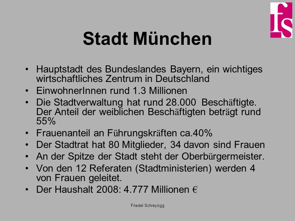 Stadt MünchenHauptstadt des Bundeslandes Bayern, ein wichtiges wirtschaftliches Zentrum in Deutschland.