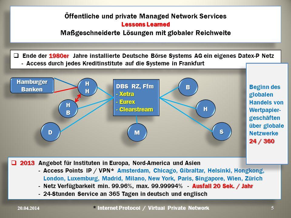 Öffentliche und private Managed Network Services Lessons Learned Maßgeschneiderte Lösungen mit globaler Reichweite
