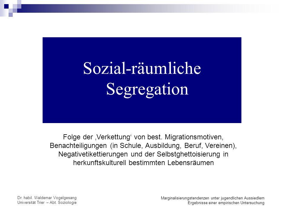 Sozial-räumliche Segregation