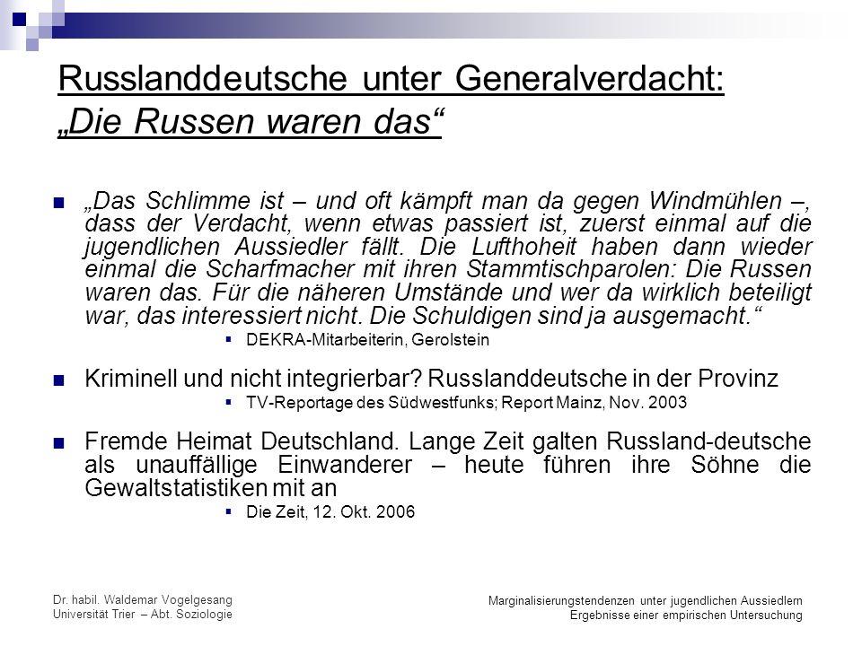 """Russlanddeutsche unter Generalverdacht: """"Die Russen waren das"""