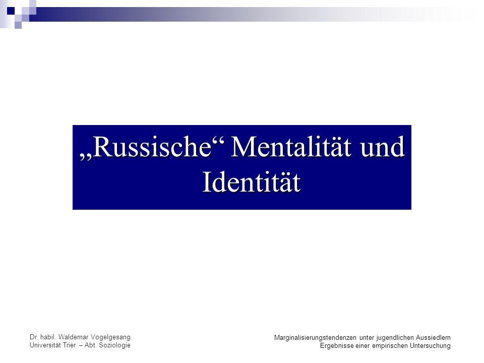 """""""Russische Mentalität und Identität"""