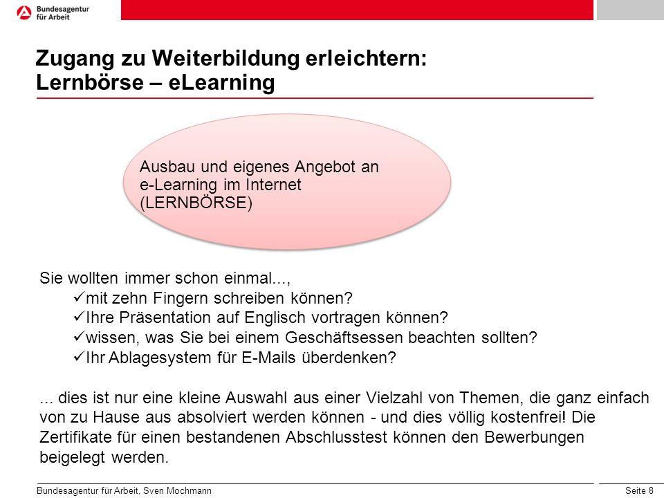 Zugang zu Weiterbildung erleichtern: Lernbörse – eLearning