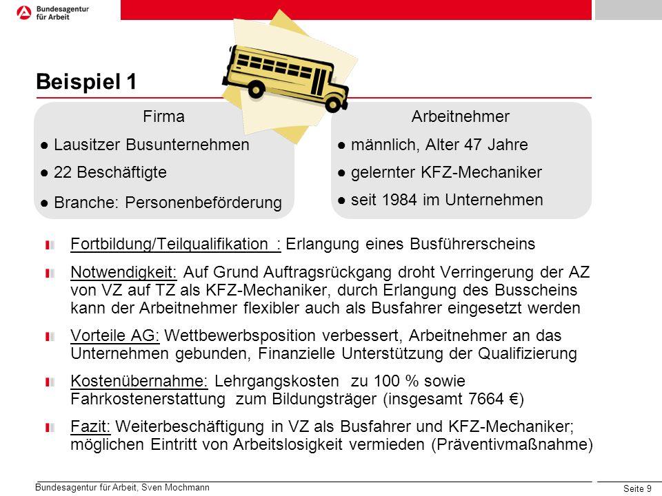 Beispiel 1 Firma ● Lausitzer Busunternehmen ● 22 Beschäftigte