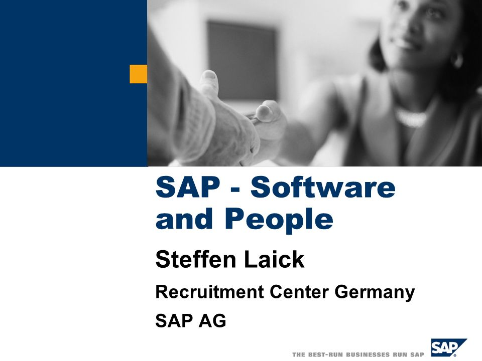 SAP - Software and People