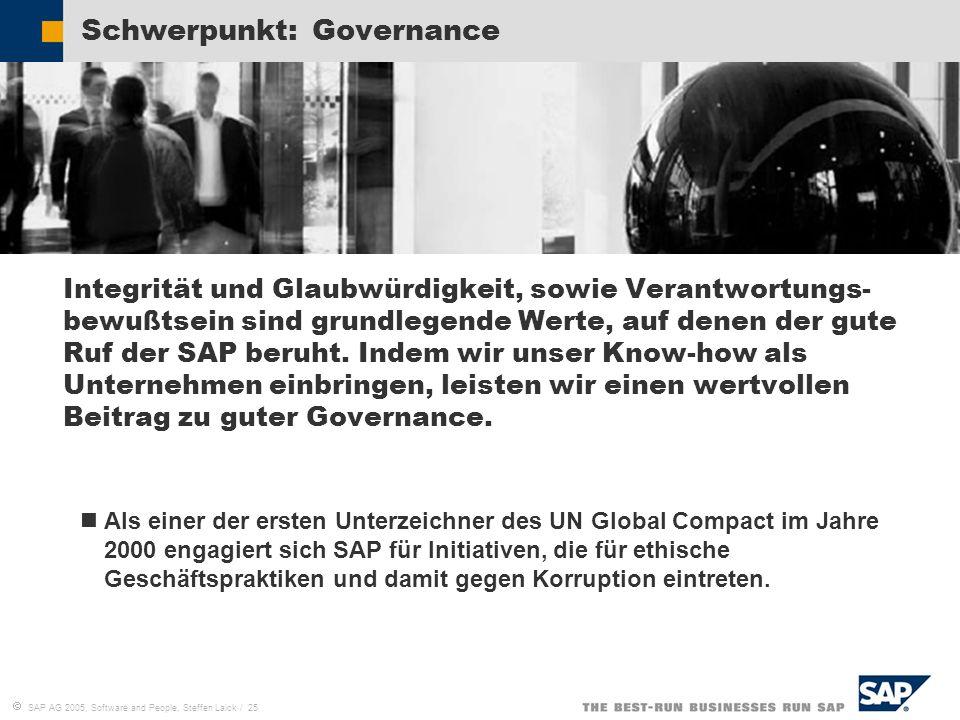 Schwerpunkt: Governance