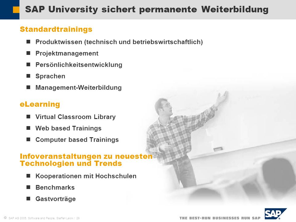 SAP University sichert permanente Weiterbildung
