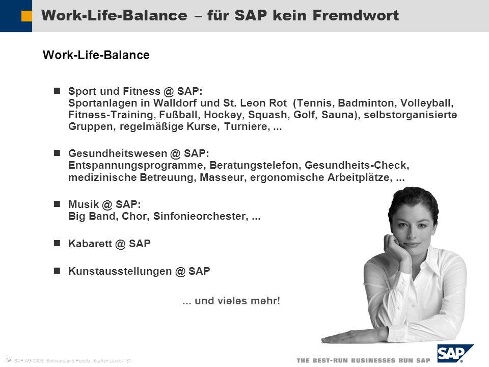 Work-Life-Balance – für SAP kein Fremdwort