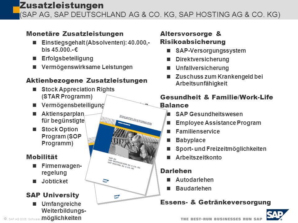 Zusatzleistungen (SAP AG, SAP DEUTSCHLAND AG & CO