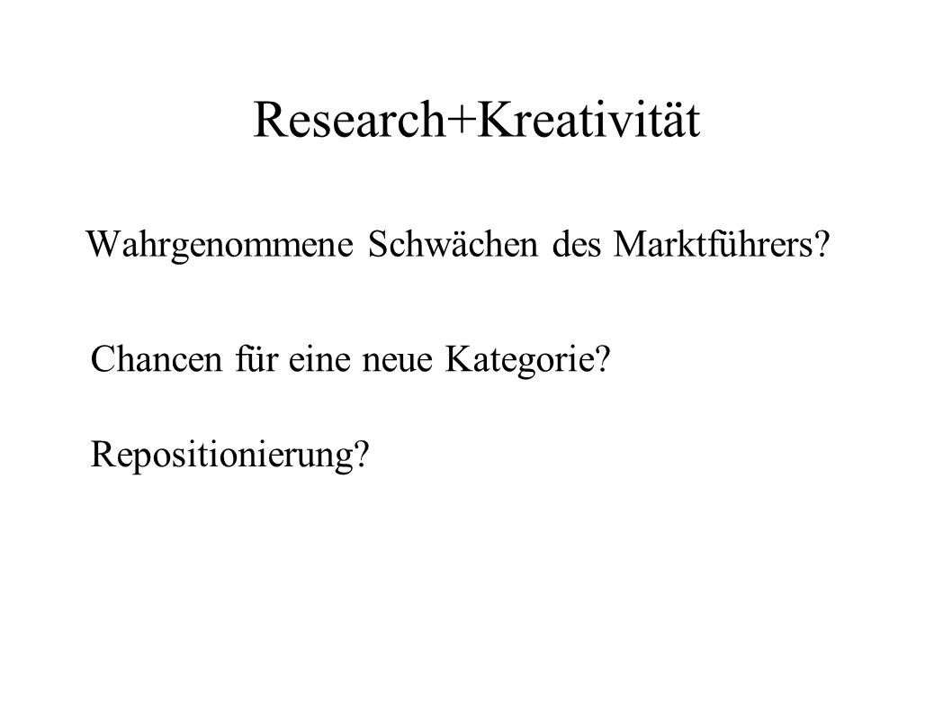 Research+Kreativität