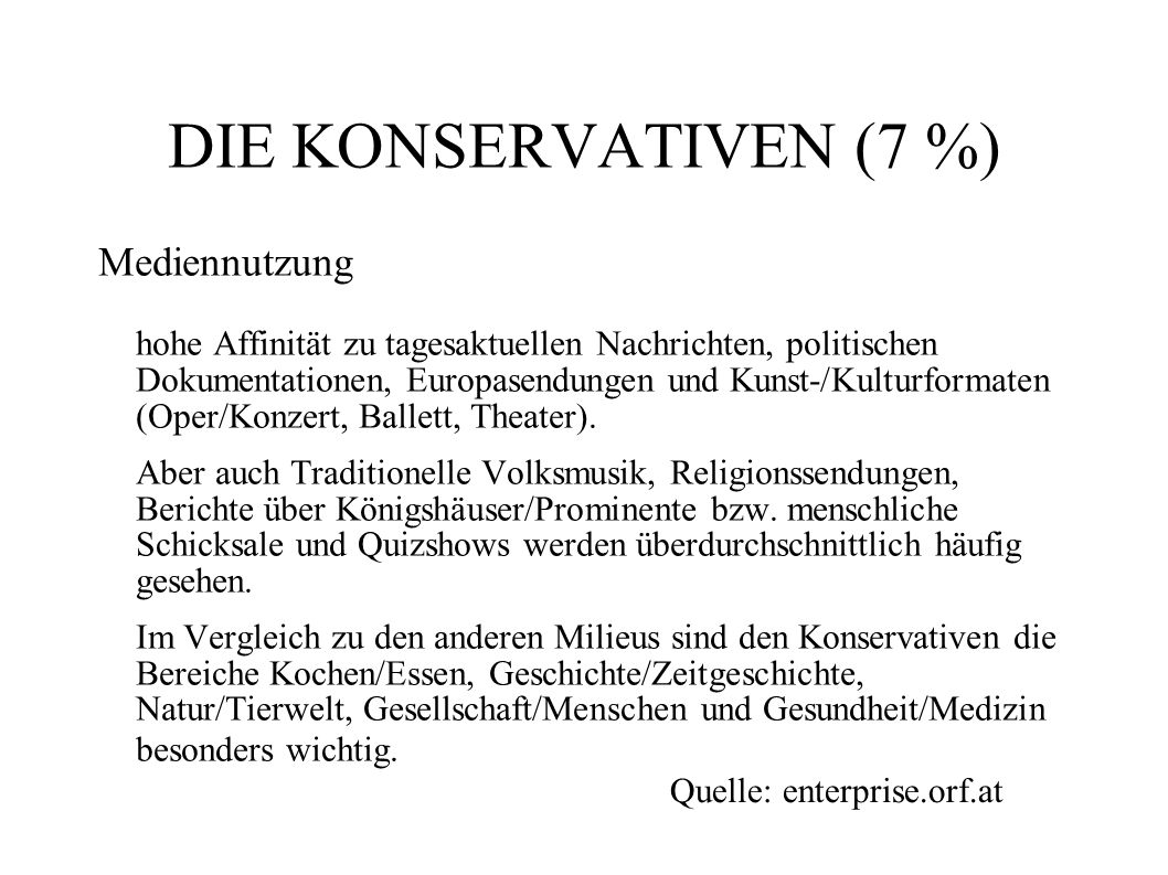 DIE KONSERVATIVEN (7 %)