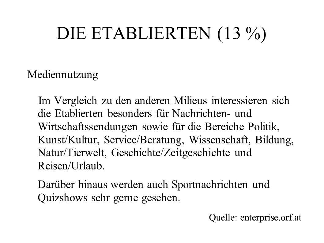 DIE ETABLIERTEN (13 %)