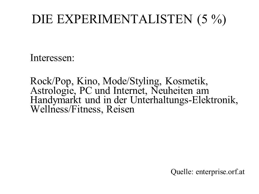DIE EXPERIMENTALISTEN (5 %)
