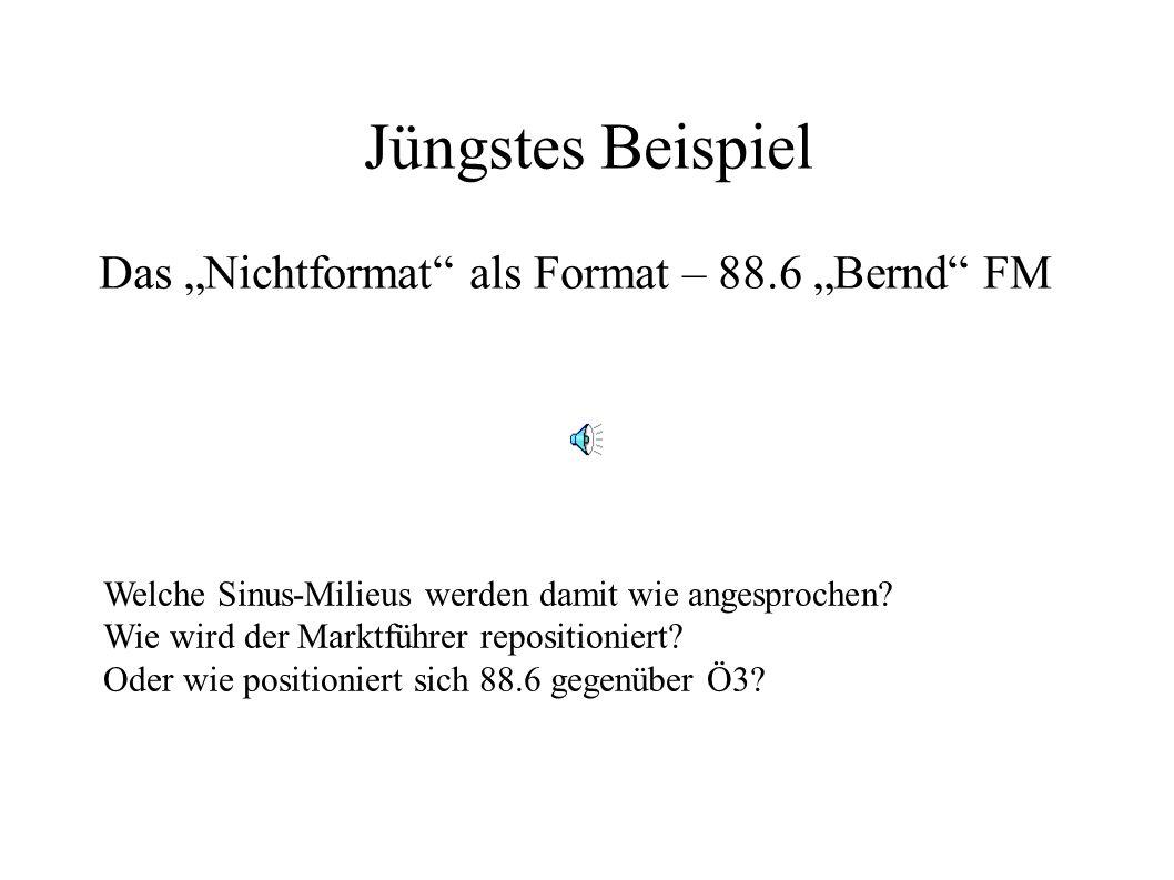 """Jüngstes Beispiel Das """"Nichtformat als Format – 88.6 """"Bernd FM"""