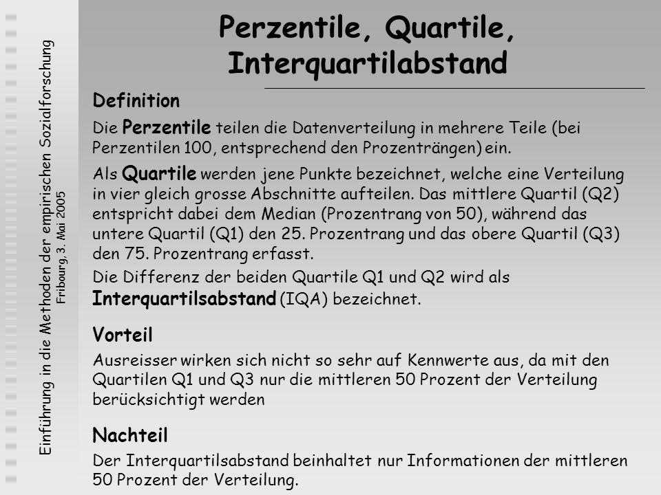 Perzentile, Quartile, Interquartilabstand