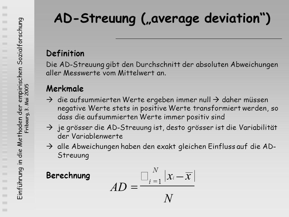 "AD-Streuung (""average deviation )"