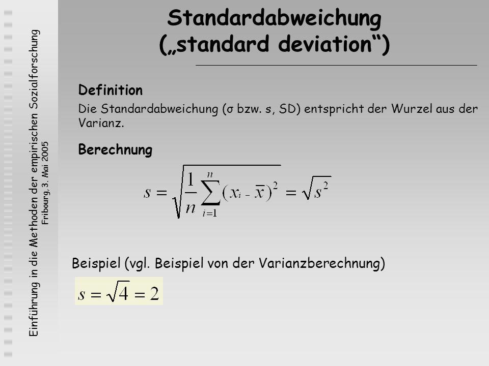 """Standardabweichung (""""standard deviation )"""