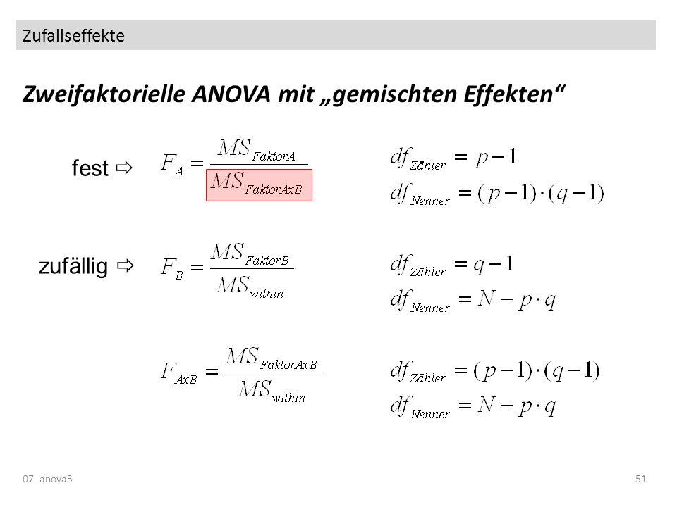 """Zweifaktorielle ANOVA mit """"gemischten Effekten"""