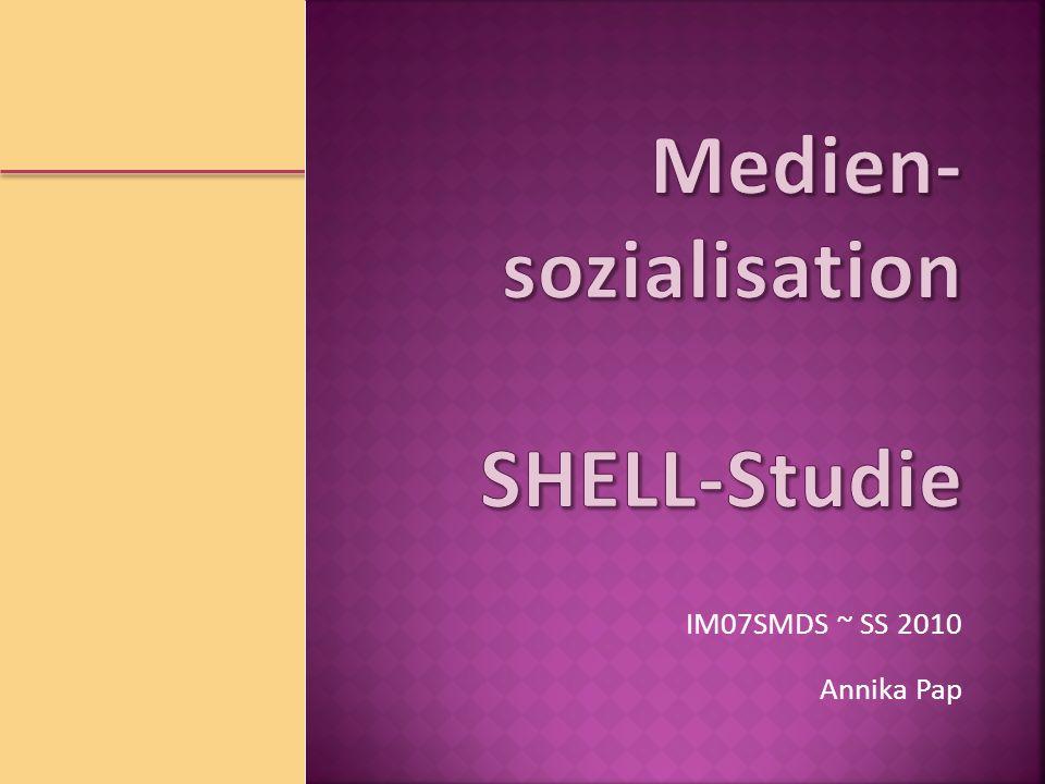 Medien-sozialisation SHELL-Studie