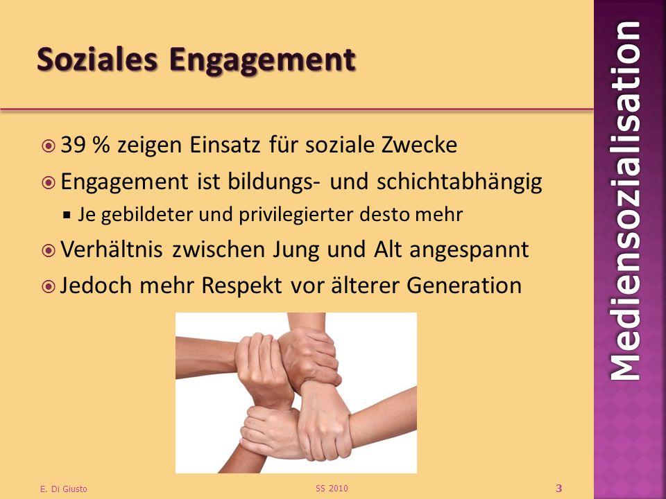 Soziales Engagement 39 % zeigen Einsatz für soziale Zwecke