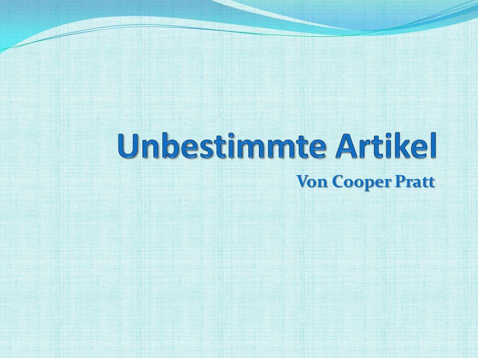 Unbestimmte Artikel Von Cooper Pratt