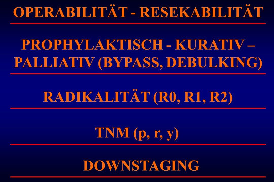 OPERABILITÄT - RESEKABILITÄT