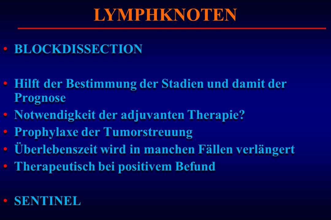 LYMPHKNOTEN BLOCKDISSECTION