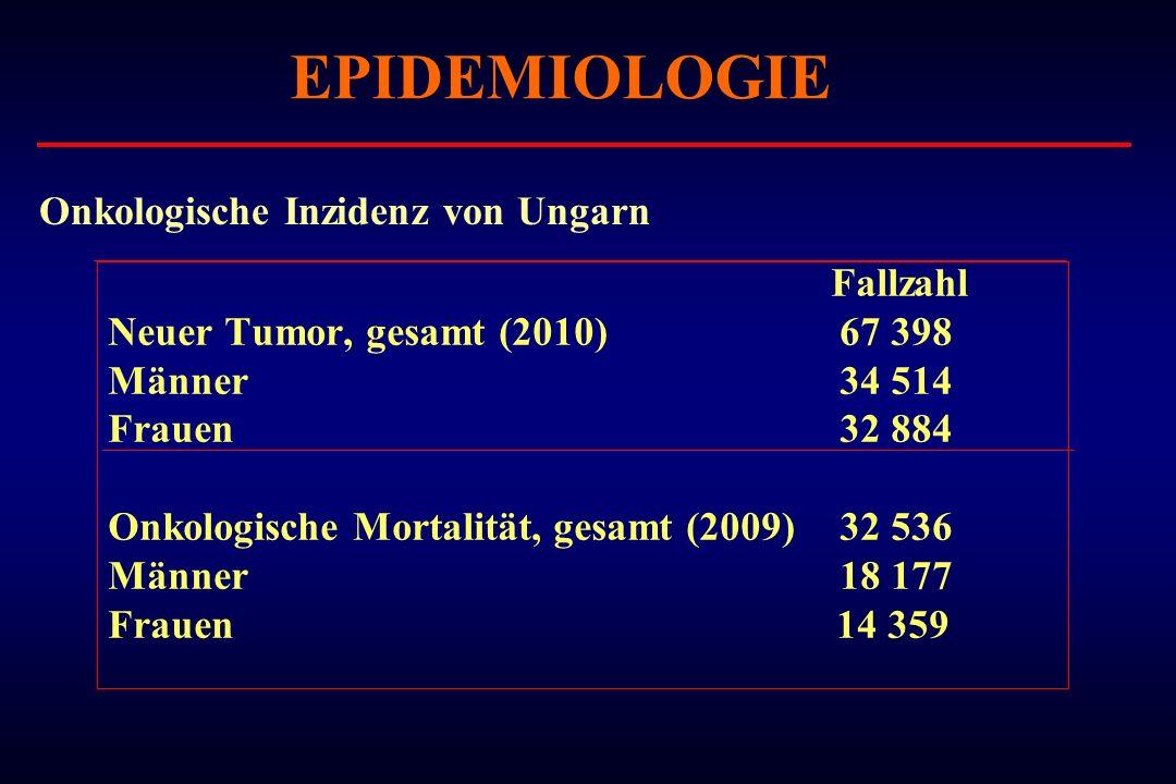 EPIDEMIOLOGIE Onkologische Inzidenz von Ungarn Fallzahl
