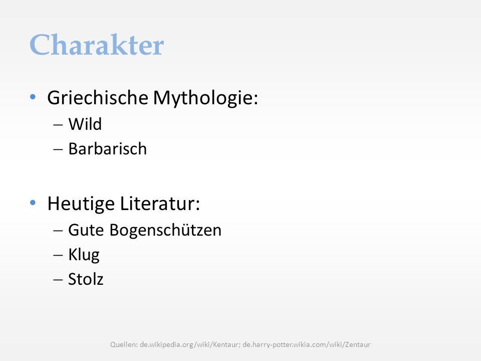 Charakter Griechische Mythologie: Heutige Literatur: Wild Barbarisch