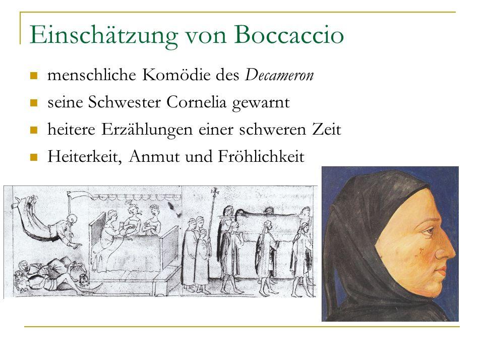 Einschätzung von Boccaccio