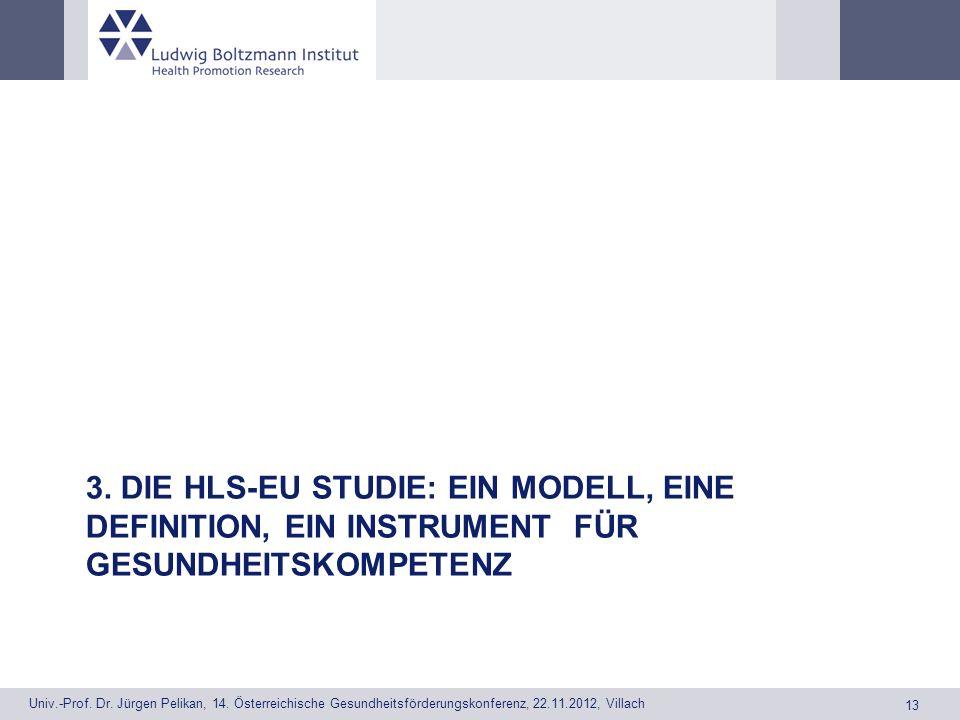 3. Die HLS-EU Studie: Ein Modell, eine Definition, ein Instrument Für Gesundheitskompetenz