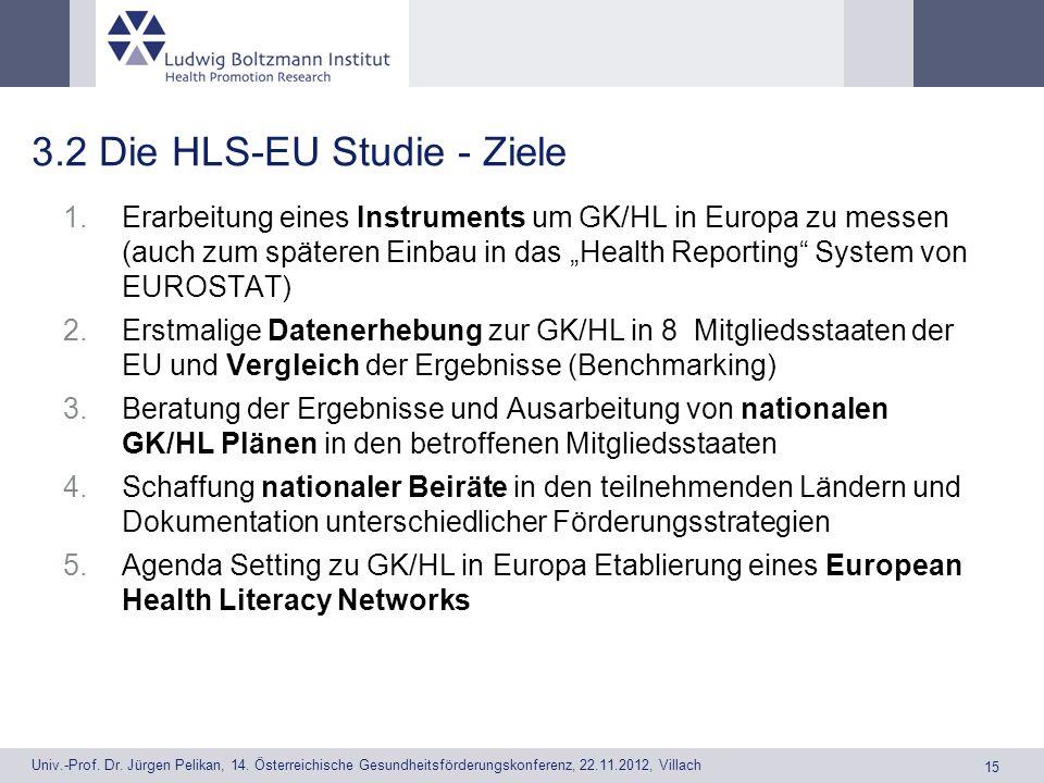 3.2 Die HLS-EU Studie - Ziele