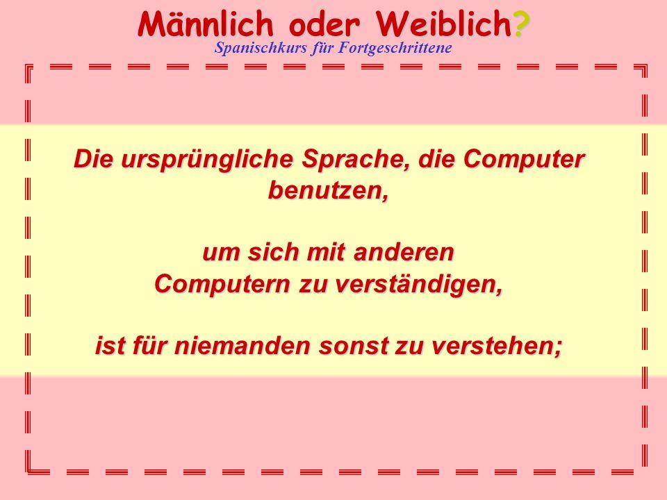 Die ursprüngliche Sprache, die Computer benutzen,